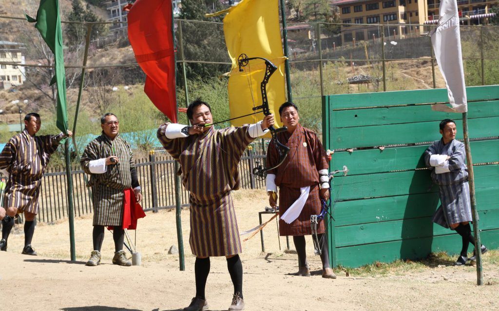 Bhutan Archery by Bhutan DMC